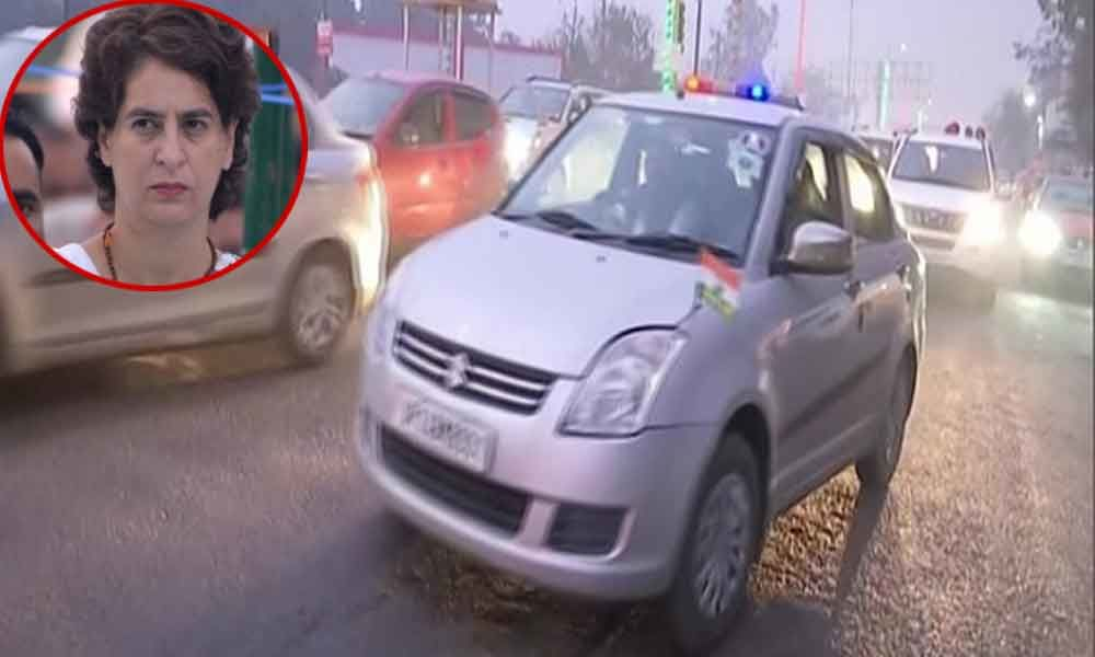 Vehicles in Priyankas cavalcade involved in accident in UP