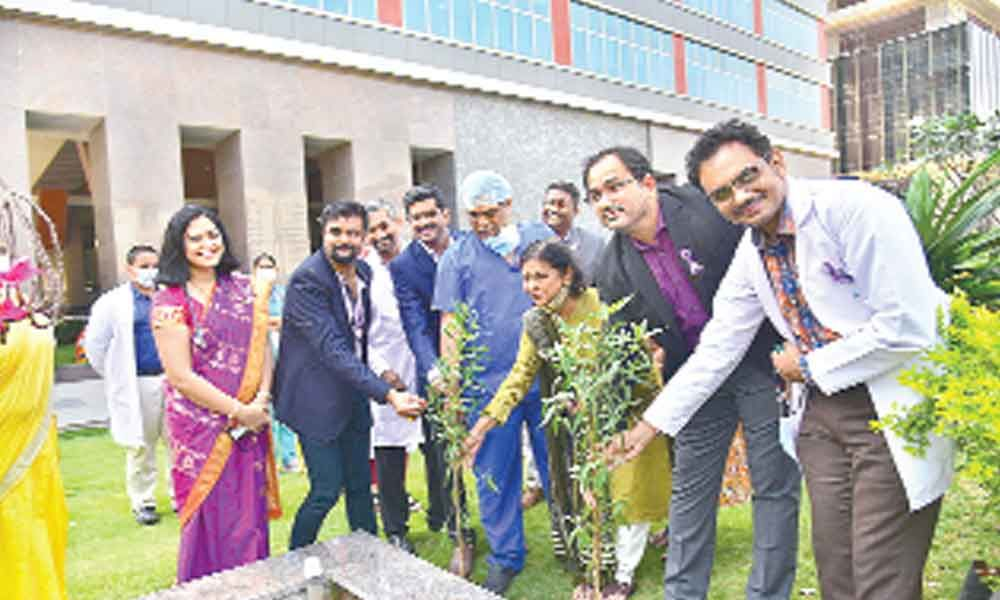 Saplings planted on World Cancer Day