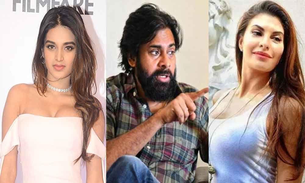 Niddhi Agerwal ,Pawan Kalyan and Jacqueline Fernandez
